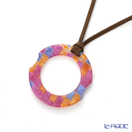 KISSO / Sabae 'Round' Pink Mix Necklace Loupe