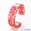 Sabae products: Kisso Dirocca Bangle, 95 Red Tile