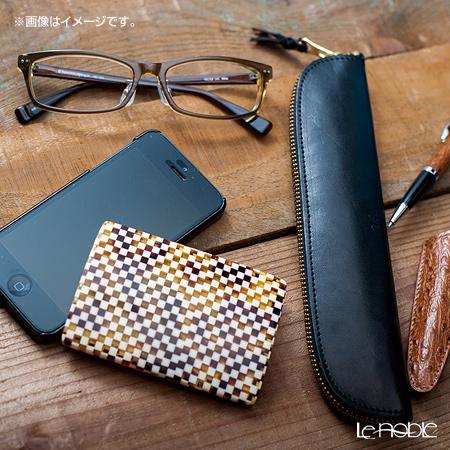 KISSO / Sabae 'Checker Brown' Card Case