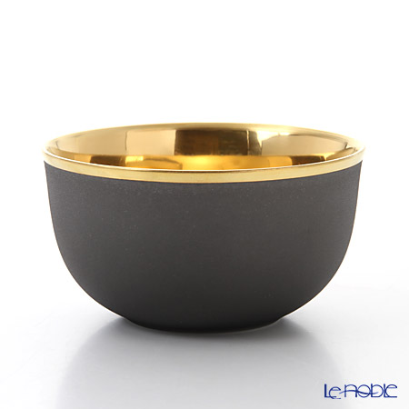 Augarten 'Trianon' Dark Gray x Gold (24K) Champagne Bowl
