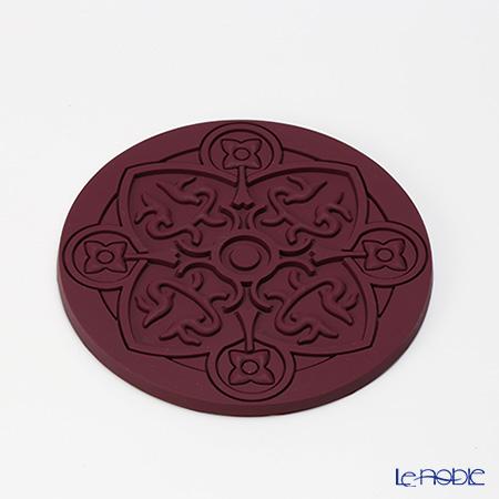 Images D'orient 'Urban - Prune' Purple COA100011 Round Coaster 11cm