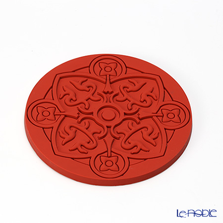 Images D'orient 'Urban - Poppy' Red COA100021 Round Coaster 11cm