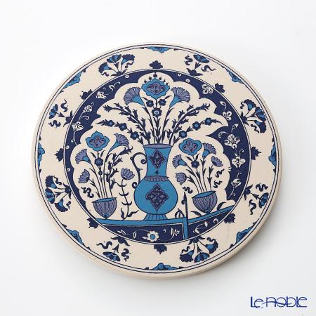 トルコ陶器 鍋敷き ラウンド型 7