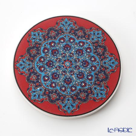 トルコ陶器 鍋敷き ラウンド型 51