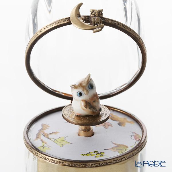 エッグボックス クリスタル フクロウ (オルゴール付:子守唄/ブラームス)