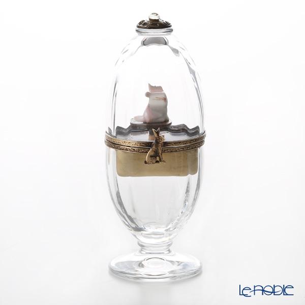 エッグボックス クリスタルウサギ ピンク (オルゴール付:エリーゼのために/ベートーヴェン)