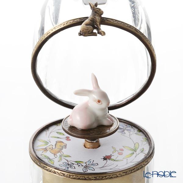 エッグボックス クリスタル ウサギ ピンク (オルゴール付:エリーゼのために/ベートーヴェン)