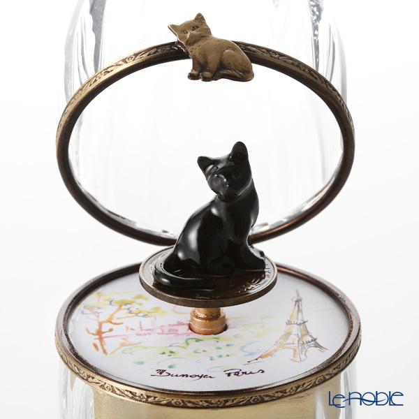 エッグボックス クリスタル黒猫(オルゴール付:子守唄/ブラームス)