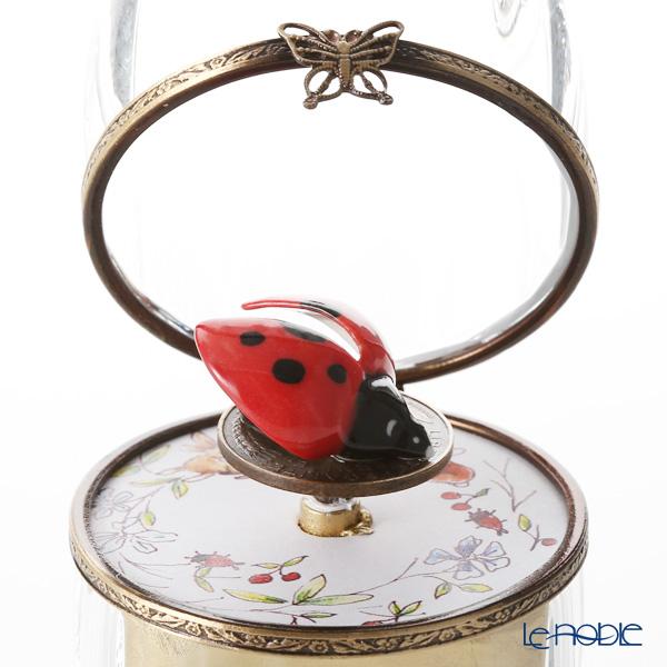エッグボックス クリスタル テントウ虫 (オルゴール付:白鳥の湖/チャイコフスキー)