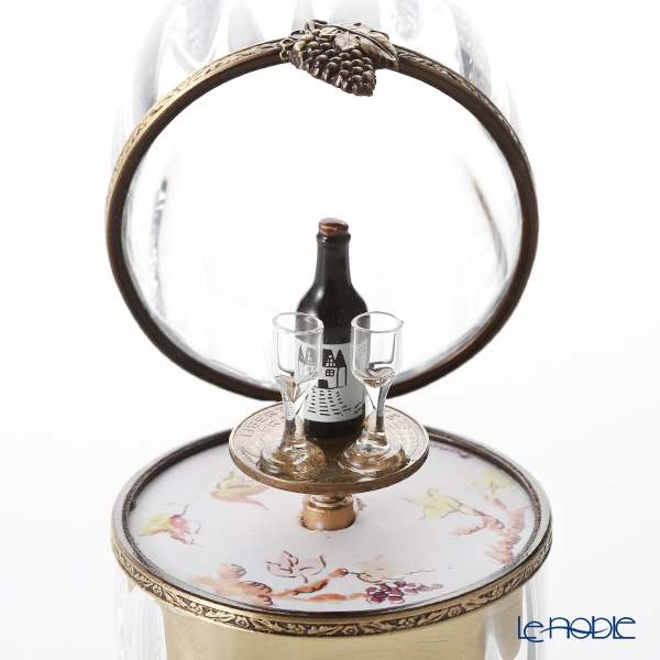 エッグボックス クリスタル ワイン(オルゴール付:花のワルツ/チャイコフスキー)