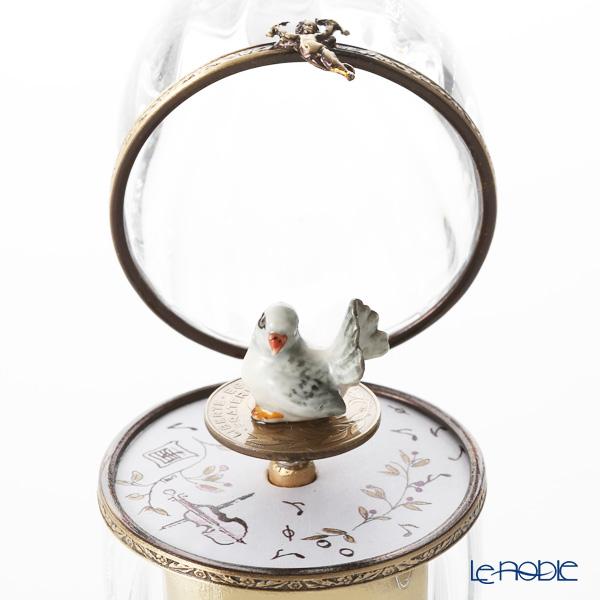 エッグボックス クリスタル ハト (オルゴール付:ロミオとジュリエット/シュトラウス)