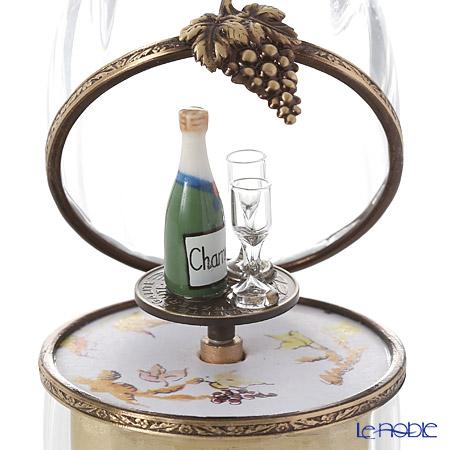 エッグボックス クリスタル シャンパン (オルゴール付:花のワルツ/チャイコフスキー)