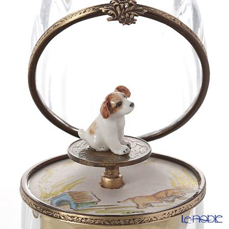 エッグボックス クリスタル ビーグル犬 (オルゴール付:花のワルツ/チャイコフスキー)