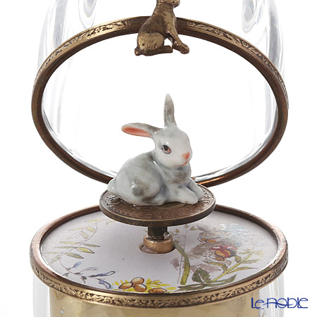 エッグボックス クリスタルウサギ (オルゴール付:エリーゼのために/ベートーヴェン)
