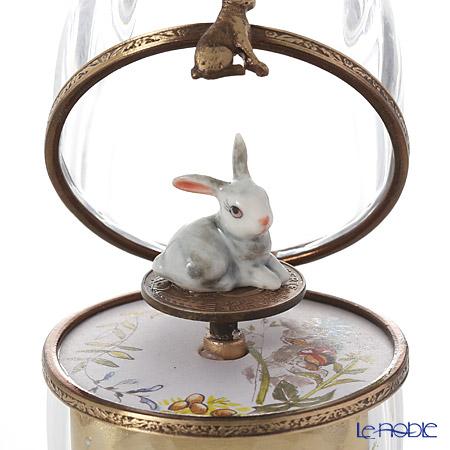リモージュボックス/エッグボックス クリスタル ウサギ (オルゴール付:エリーゼのために/ベートーヴェン)