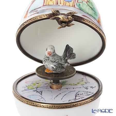 リモージュボックス/エッグボックス リモージュノートルダム 鳥 (オルゴール付:ばら色の人生)