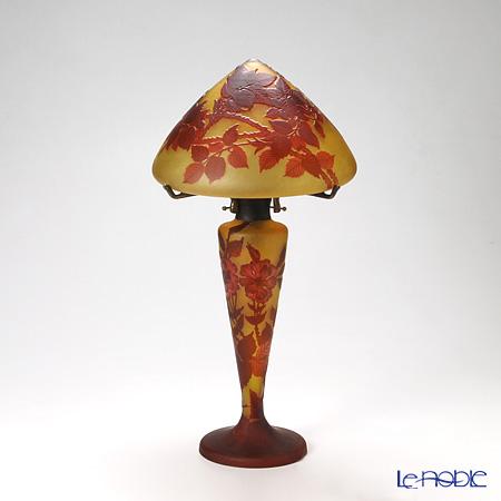 ミーシュ・コマン(ガレ復刻版) ランプ薔薇文 レッド 56cm 5427