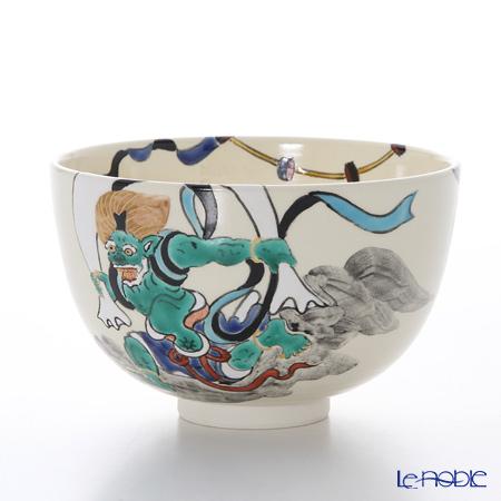 T. Nishikawa & Co. Inc - Kyoto ware / Kiyomizu ware  Matcha Bowl, Fujin-Raijin, S0039