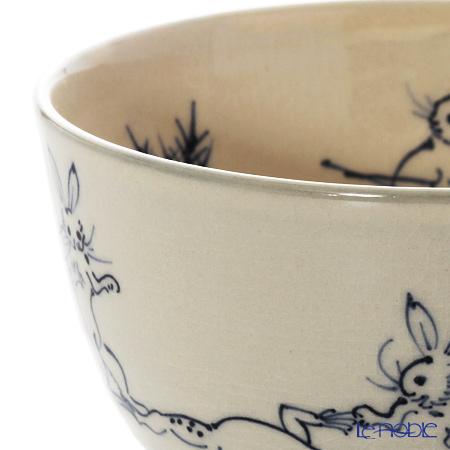 Kyo ware / Kiyomizu ware 'Sometsuke Kozanji' Blue S0047 Matcha Bowl 480ml
