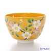 Kyo ware / Kiyomizu ware 'Cochin Cherry Flower' Yellow K0061 Matcha Bowl 500ml