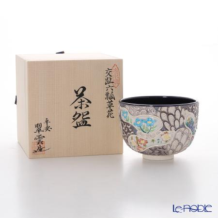 Kyo ware / Kiyomizu ware 'Cochin 6 Gourds with Flower' K0063 Matcha Bowl 500ml
