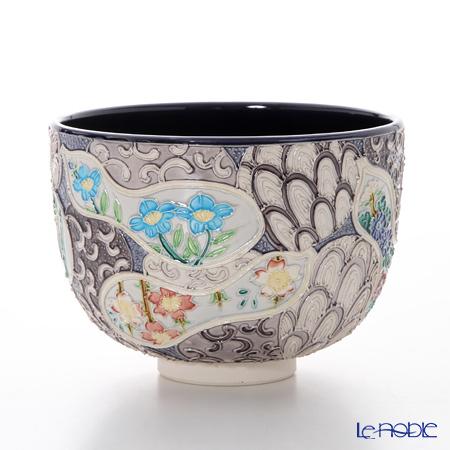 京焼・清水焼 抹茶碗 K0063 交趾六瓢草花
