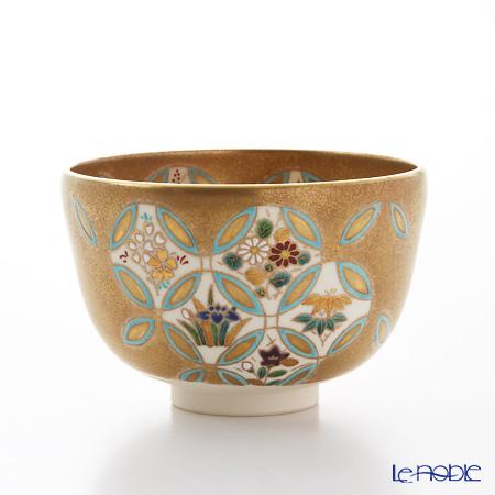京焼・清水焼 抹茶碗 K0067 金砂子七宝草花