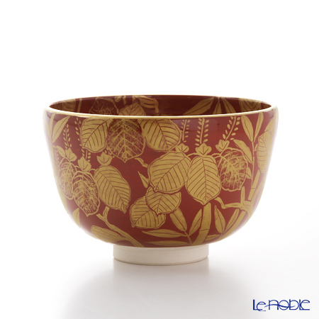 京焼・清水焼 抹茶碗 K0068 金襴手(きんらんで) 桐