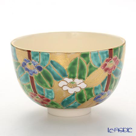 京焼・清水焼 抹茶碗 K0006 金彩椿