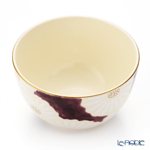 Kyo ware / Kiyomizu ware 'Marguerite' Purple K0009 Matcha Bowl 480ml