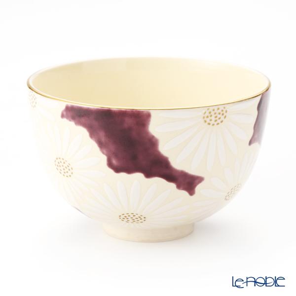 京焼・清水焼 抹茶碗 K0009 白菊紫地