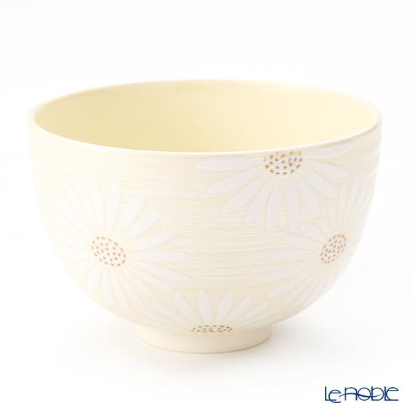 京焼・清水焼 抹茶碗 K0011 白菊刷毛目銀彩