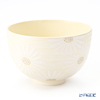 Kyo & Kiyomizu pottery tea bowls 0011 Chrysanthemum brush eyes silver Sai