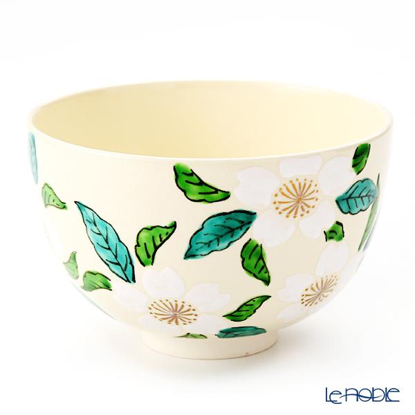 Kyo ware / Kiyomizu ware 'Cherry Blossom' White 0015 Matcha Bowl 480ml
