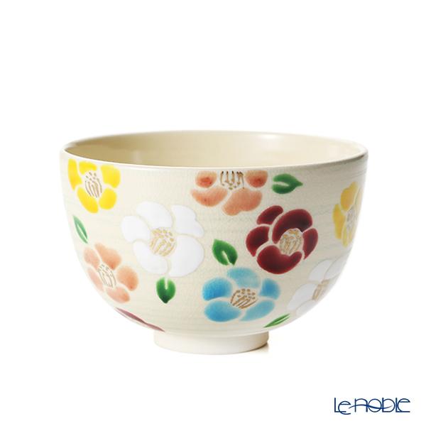 京焼・清水焼 抹茶碗 K00131五彩花椿