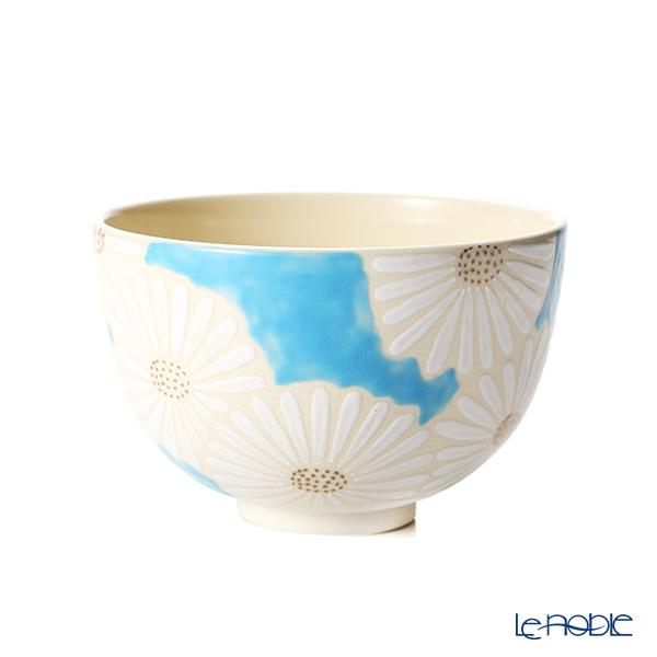 京焼・清水焼 抹茶碗 K0008白菊青地