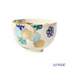 Kyo ware / Kiyomizu ware 'Gosai Hanamai'  K00135 Matcha Bowl (Small Tea Bowl)