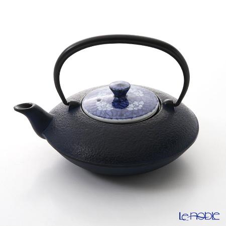 京焼・清水焼 鉄瓶急須 T0105 染付椿詰 小 410ml