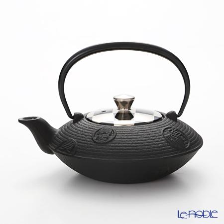 Kyo ware / Kiyomizu ware 'Silver Ichimatsu' Black K0154 Iron Tea Pot 410ml (S)