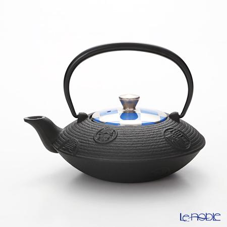Kyo ware / Kiyomizu ware 'Silver Ichimatsu' BLue K0158 Iron Tea Pot 410ml (S)