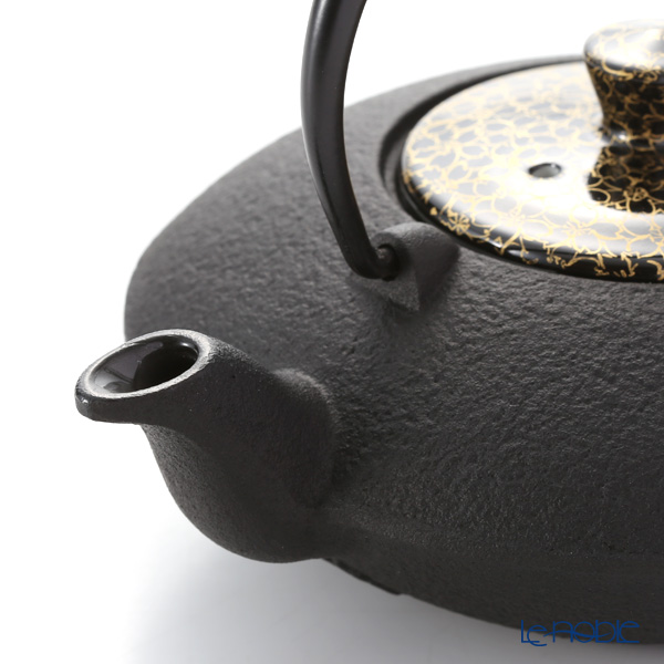 Kyo ware / Kiyomizu ware 'Gold Cherry Flower' Black T0168 Iron Tea Pot Black 410ml (S)