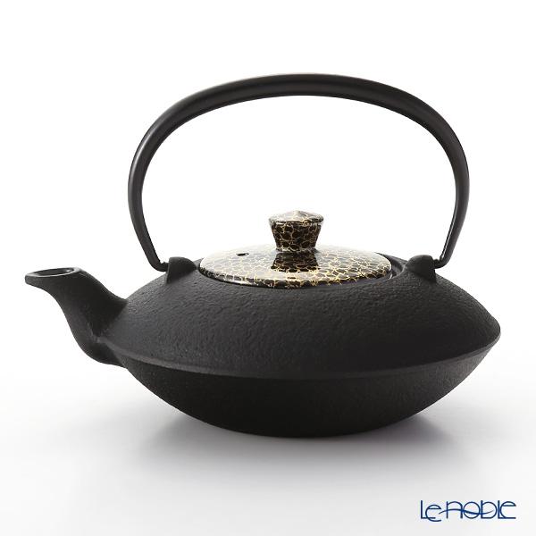 京焼・清水焼 鉄瓶急須・黒 T0168 黒地金彩桜詰 小 410ml