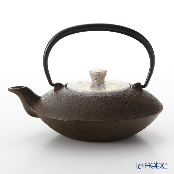 Kyo ware / Kiyomizu ware 'Gold Cherry Flower' T0166 Iron Tea Pot Brown 410ml (S)