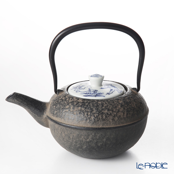 Kyo ware / Kiyomizu ware 'Sometsuke Kozanji' S0172 Iron Tea Pot Black 500ml