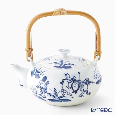 T. Nishikawa & Co. Inc - Kyoto ware / Kiyomizu ware  Teapot, SometsukeKozanjiRattanh, S0208