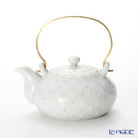 T. Nishikawa & Co. Inc - Kyoto ware / Kiyomizu ware  Teapot, HakujiShippGD&SV Sbras.h, S0211