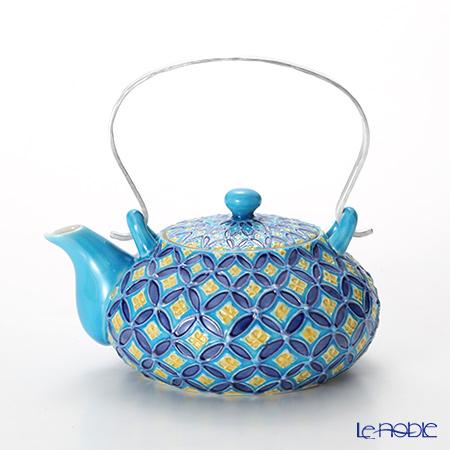 T. Nishikawa & Co. Inc - Kyoto ware / Kiyomizu ware  Teapot, CochinShippoBL S alumi h, S0213