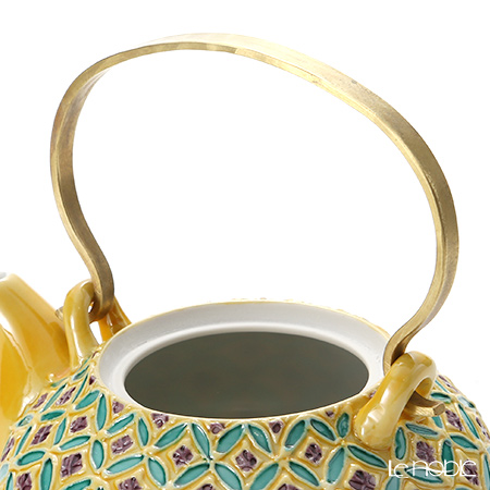 Kyo ware / Kiyomizu ware Cochin Shippo Yellow S0215 Tea Pot (S) 250ml