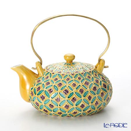T. Nishikawa & Co. Inc - Kyoto ware / Kiyomizu ware  Teapot, CochinShippoYL S bras.h, S0215