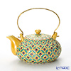 Kyo ware / Kiyomizu ware 'Cochin Shippo' Yellow S0215 Tea Pot (S) 250ml